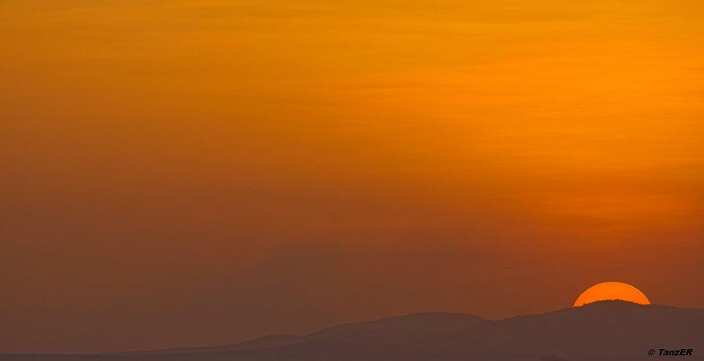 Sonnenuntergang nahe der Moru Kopjes